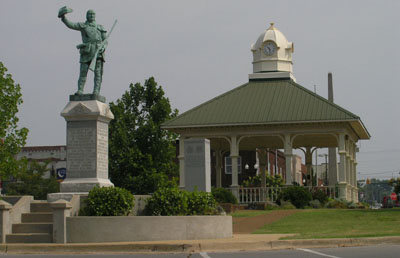 Lawrencebug Square -David Crockett Statue